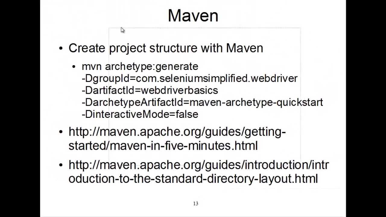 How to Create a Maven Project for Selenium WebDriver