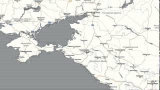 видео Сочи на подробной карте России с городами, улицами, поселками и побережьем