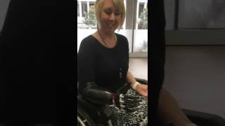 Repeat youtube video Quad amputee Korrin trials bebionic small hand