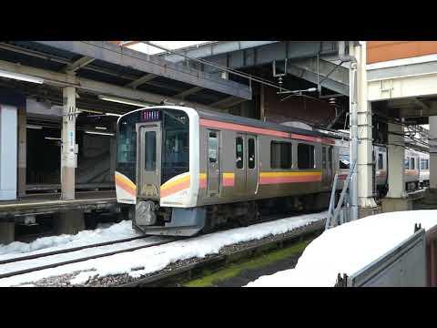 上越線E129系 浦佐駅発車 JR East Jōetsu Line E129 series EMU