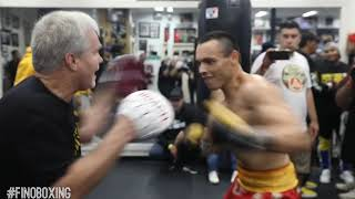 POWER & SPEED JULIO CESAR CHAVEZ WITH FREDDIE ROACH WORKING FOR WAR vs DANIEL JACOBS DEC 20 ON DAZN