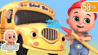 The Wheels on the Bus - Animal Sounds | Jugnu Kids Nursery Rhymes & kids Songs