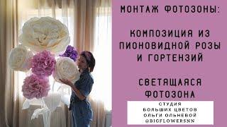 МОНТАЖ ФОТОЗОНЫ.Мобильные фотозоны от Студии Больших цветов Ольги Ольневой-украшение для мероприятий
