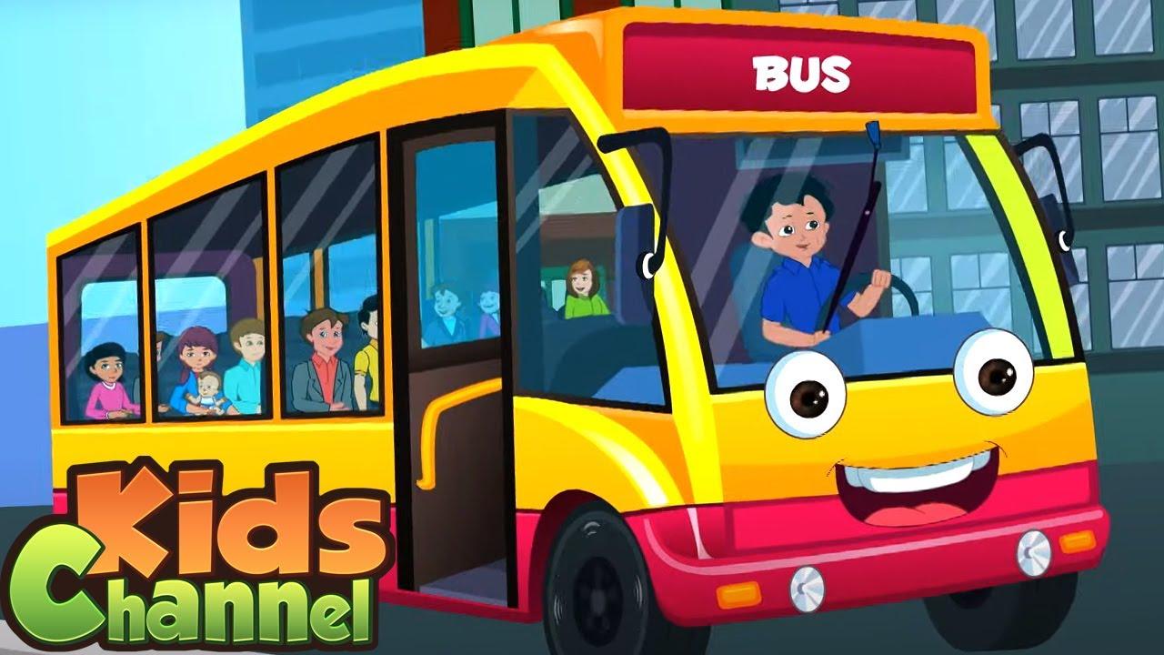 Bus Ke Pahiye Ghume Gol Gol Gol   Wheels On The Bus Ab Hindi Mein   Balgeet   Kalu Madari Aaya
