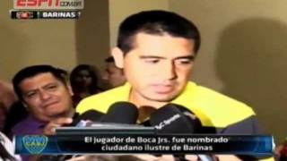 Riquelme fue nombrado ciudadan ilustre de la ciudad Barinas Venezuela