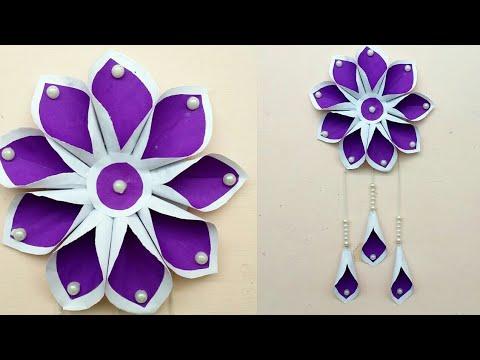 Diy paper craft idea | wall decoration idea | wall hanging idea | paper flower | #MA96