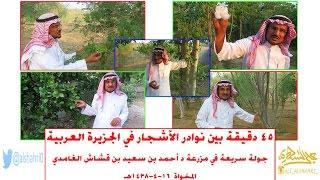 45 دقيقة بين نوادر الأشجار في الجزيرة العربية [جولة سريعة في مزرعة د أحمد بن سعيد بن قشاش] 16-4-1438