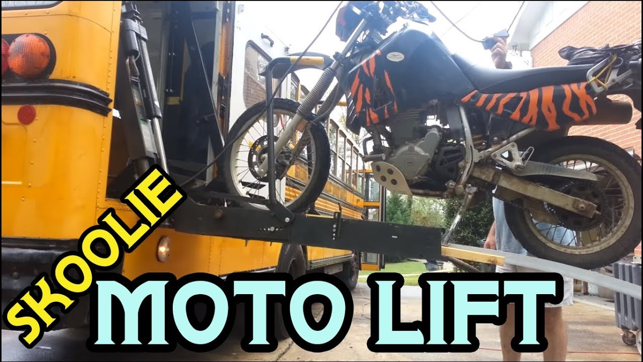 Prototype Ramp Extension For Motorcycle Lift School Bus To Rv