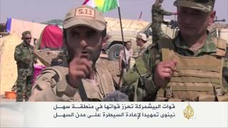 قوات البشمركة تعزز قواتها بمنطقة سهل نينوى