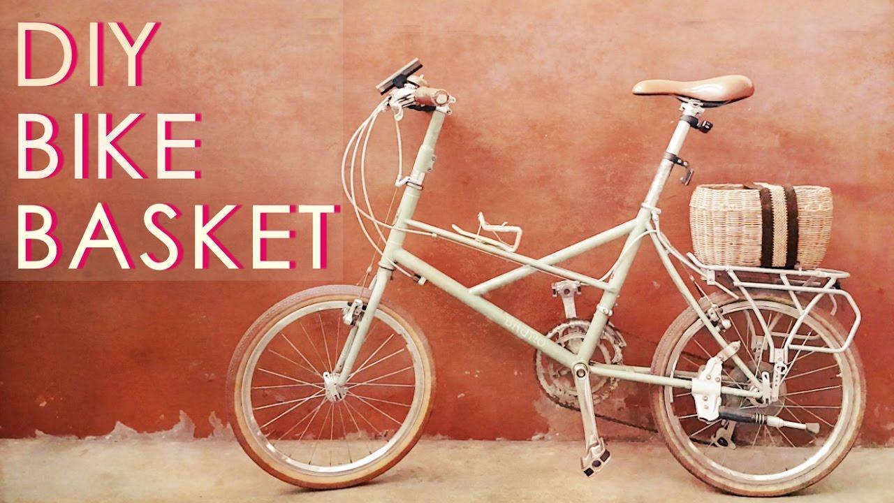 Diy A Simple Rear Bike Basket Youtube