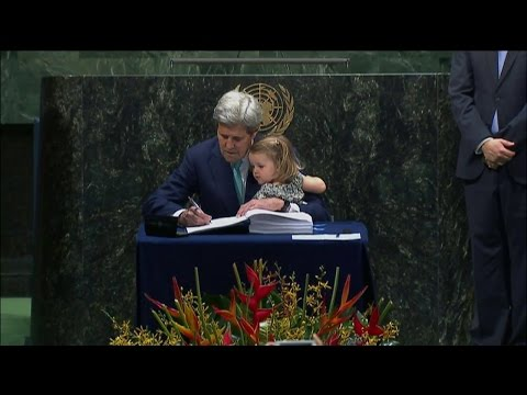 Secretary Kerry Signs the Paris Agreement on Climate Change