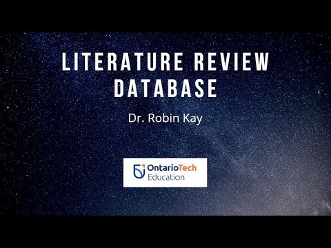 youtube literature review