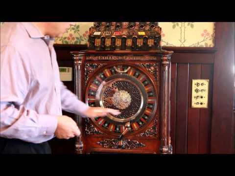 Vintage 1908 Caille Brothers Centaur Upright Jackpot Victorian Slot Machine