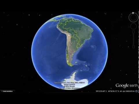 SUDAMÉRICA - SEGUN GOOGLE EARTH