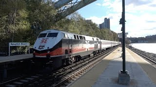 Metro North / Amtrak - Spuyten Duyvil - Express and Local Trains