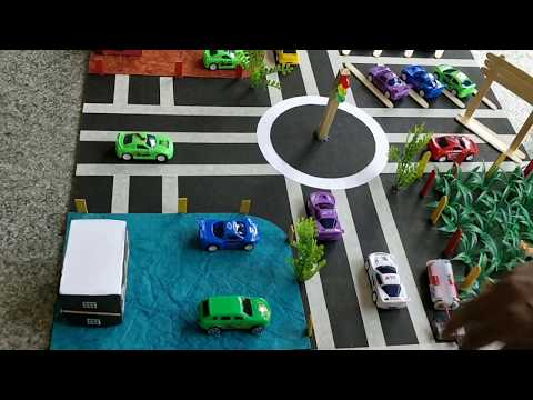 Transportation and communication model - working model - YouTube