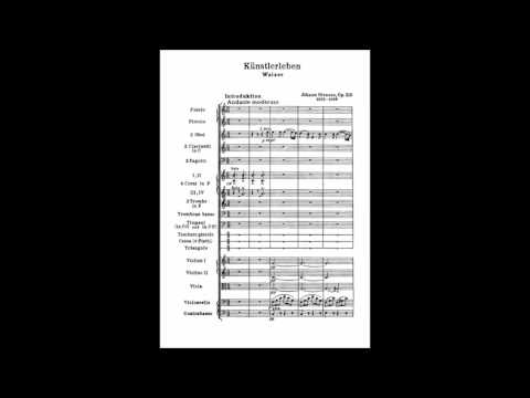 Johann Strauß II - Künstlerleben - Walzer. Op.316  / The Artist's Life (Score)