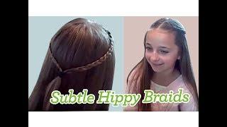 Subtle Hippy Braids | Cute Girls Hairstyles