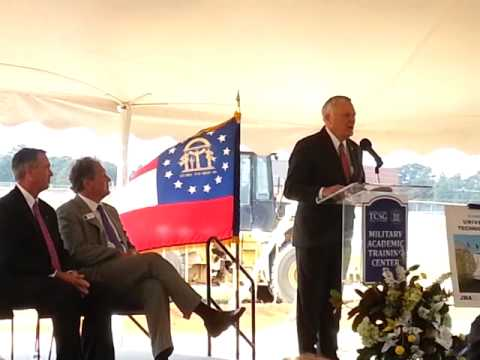 Veterans training center groundbreaking