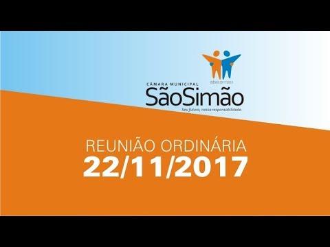 REUNIAO ORDINARIA 22/11//2017