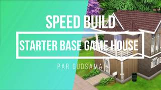 [Sims 4] Speed Build - 🏠💯 Starter base game house
