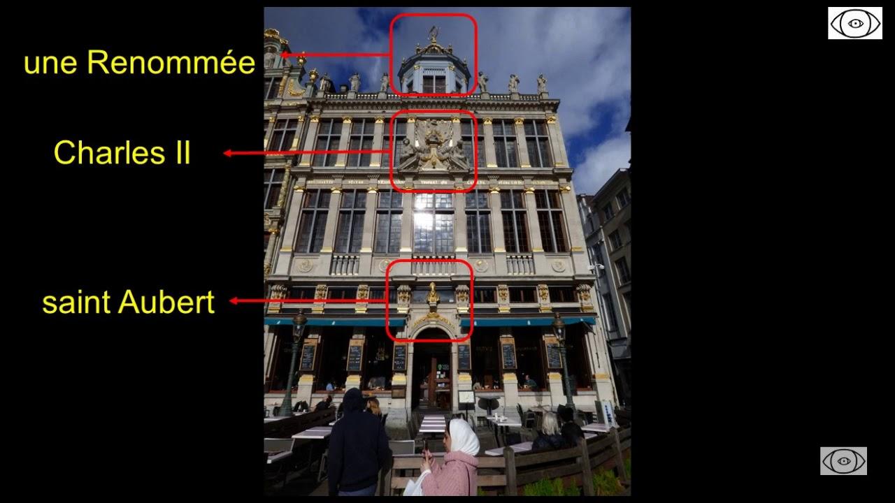 Façade de la maison du Roy d'Espagne, Grand-Place de Bruxelles.