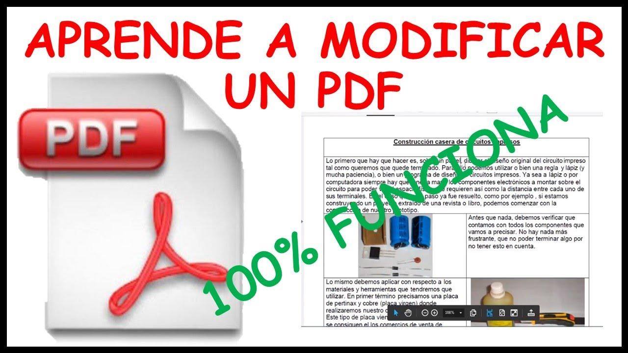COMO MODIFICAR Y EDITAR UN ARCHIVO PDF IMÁGENES ,TEXTOS