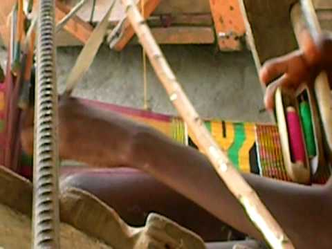 Kente Cloth Weaving in Ewe, Ghana.