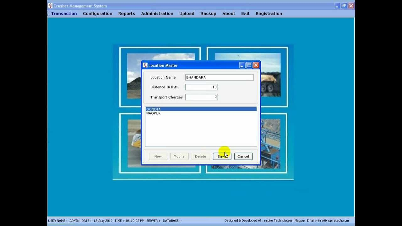 Crusher Plant Management System Software Design By Nspire Technology Nagpur Youtube