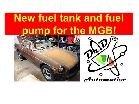 1978 MGB - Part 7 Replacing The Fuel Tank And Fuel Pump! #MG #MGB #Restore