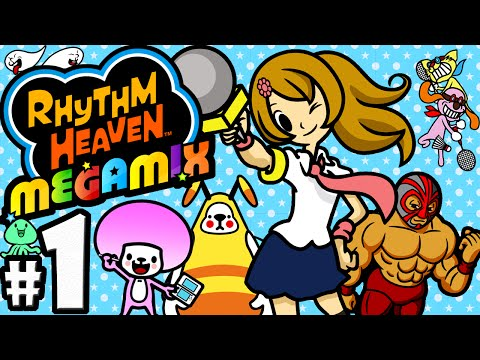Rhythm Heaven Megamix 3DS Gameplay Walkthrough PART 1 New Best Collection! Nintendo HD English