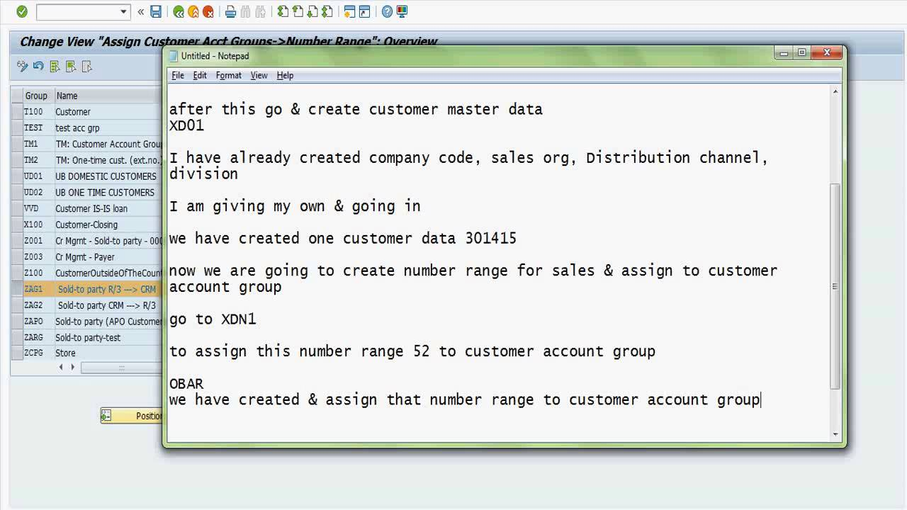 sap sd customer master and material master data creation configuration [ 1280 x 720 Pixel ]