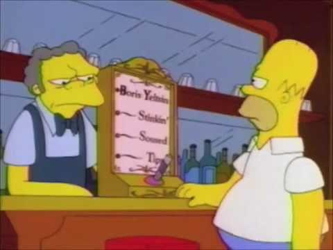 Alcohol Breathalyzer Test >> The Simpsons - Boris Yeltsin Breathalyzer Test - YouTube