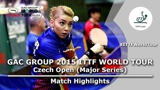 Czech Open 2015 Highlights: SZOCS Bernadette vs CHENG I Ching (R 1)