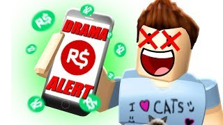 DenisDaily vs Roblox DRAMA!? Roblox BANNED DENIS Free ROBUX Website!