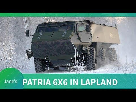 Patria 6x6 testing in Lapland
