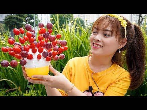 Chị Tuyết Và Chị Hằng Ăn Hoa Quả Xiên ❤ BIBI TV ❤