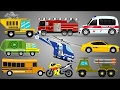 Learn Scary Street Vehicles   Cars   Trucks   Good to Evil Transformation   Kids Videos
