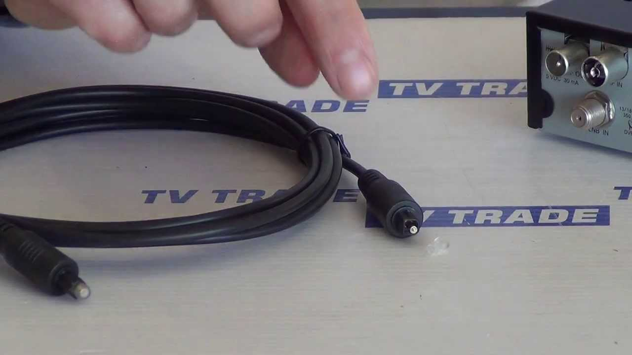 1.5m Toslink Digital Optical SPDIF Cable - YouTube