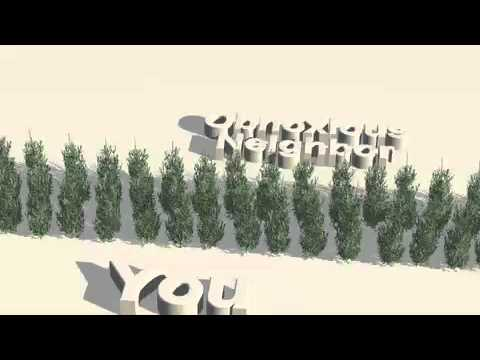 Exceptionnel Living Privacy Fence Using Evergreen Trees   YouTube