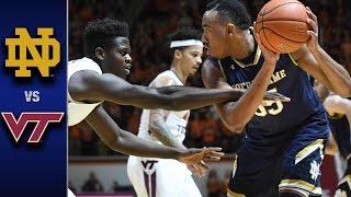 Notre Dame vs. Virginia Tech Men s Basketball Highlights (2016-17)