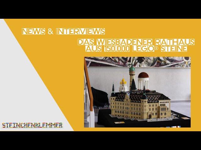 Das Wiesbadener Rathaus aus 150.000 LEGO® Steine