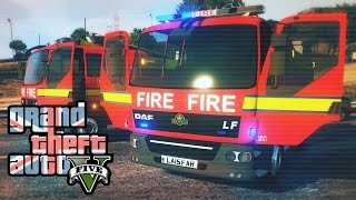 London Fire Brigade in GTA 5! - Trying out the Rescue Mod #2