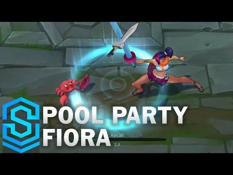 Pool Party Fiora Skin Spotlight - Pre-Release - League of Legends