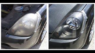 Как самому отполировать фары авто- легко и без дрели. Зубная паста vs Полироль