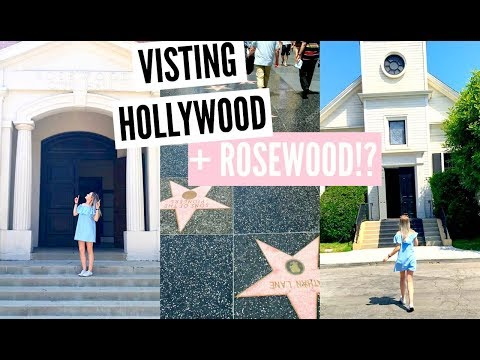 HOLLYWOOD WALK OF FAME AND WARNER BROTHERS SET TOUR!! | sophdoesvlogs