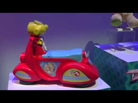 New! Fisher-Price Laugh & Learn Smart Stages Scooter ~ Toy Fair 2015 NYC