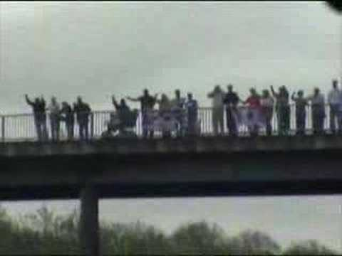 UEFA Cup Final - Rangers Fans' Convoy To Manchester