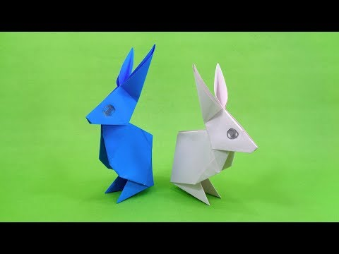Easy Origami Rabbit - How To Make A Paper Rabbit 🐇 - DIY Paper Crafts Rabbit Tutorial
