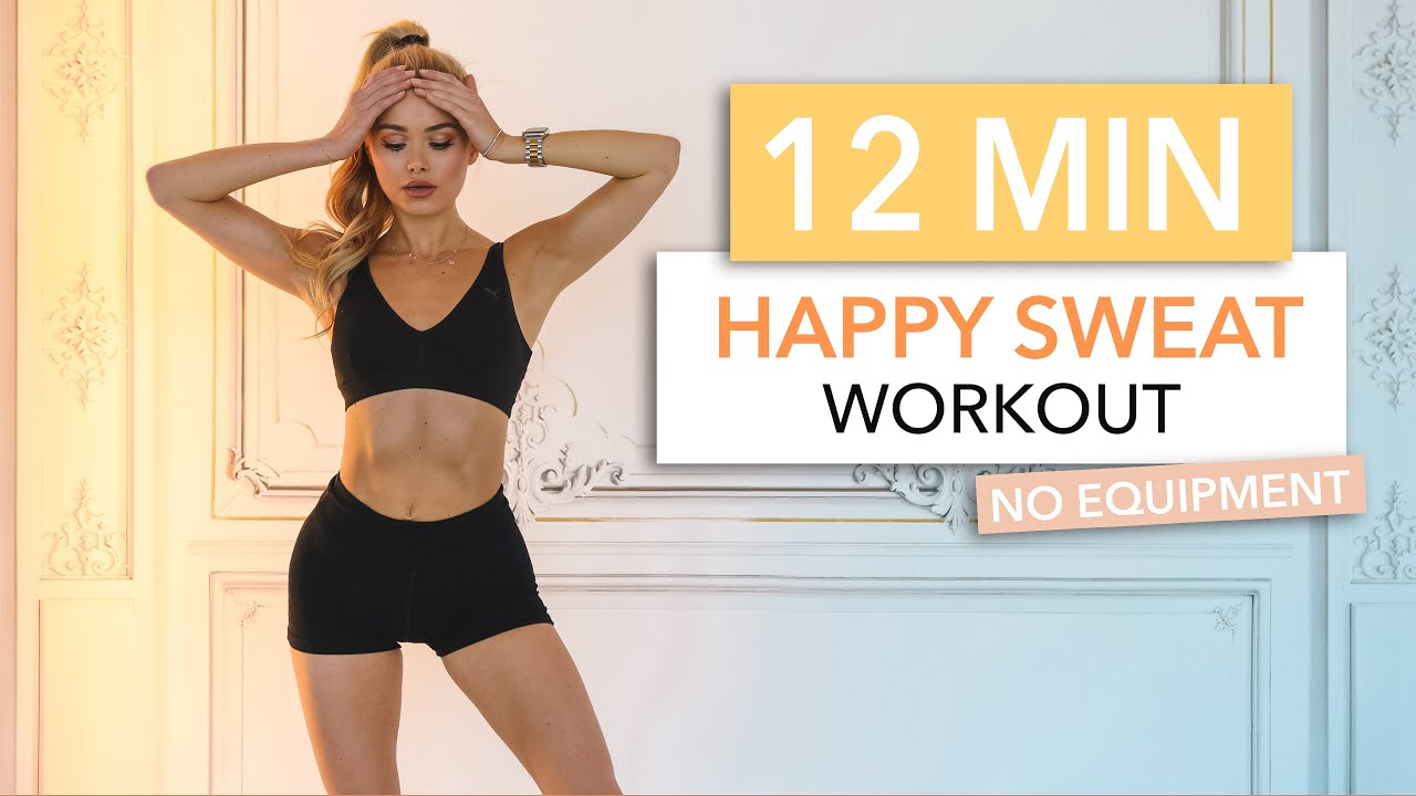 12 MIN HAPPY SWEAT WORKOUT - good mood HIIT workout / No Equipment I Pamela Reif